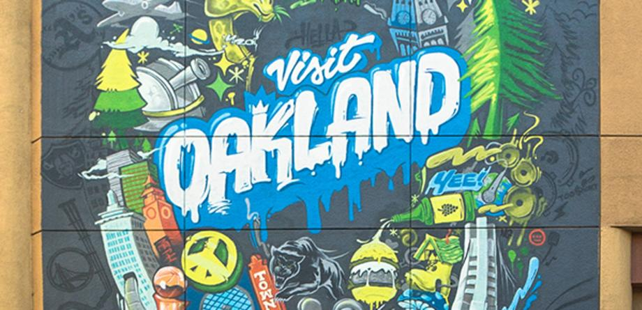 Marriott Oakland Warriors Mural