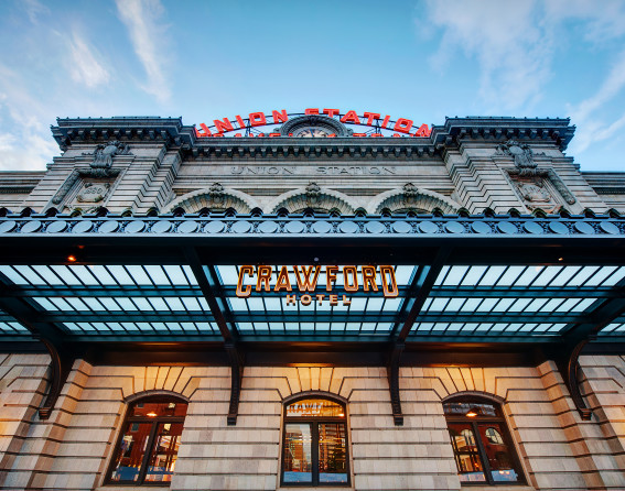 Exterior shot of The Crawford Hotel at Denver Union Station