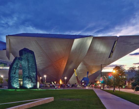 Denver Art Museum with logo