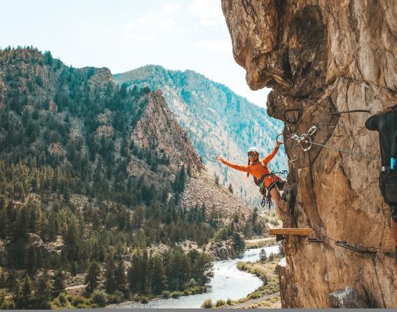Granite via ferrata in Colorado