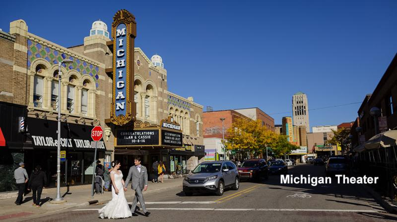 Michigan Theater Exterior, Liberty Street