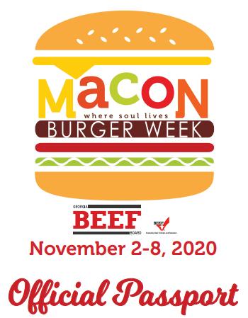 Macon Burger Week Passport 2020 Image
