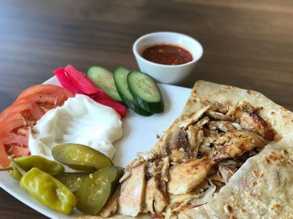 Shawarma Platter From Ouzi Mediterranean Grill In Irving, TX
