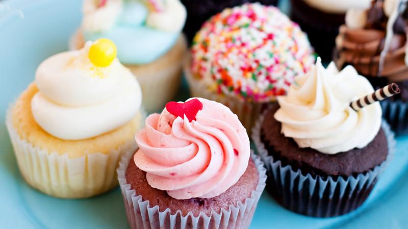 Beautifully designed cupcakes