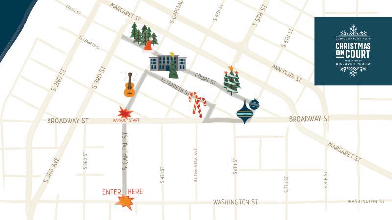 Christmas on Court Map 2020