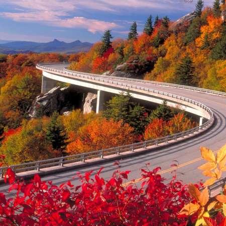 Linn Cove Viaduct in Fall | Blue Ridge Parkway MP 304