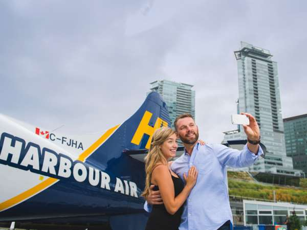 Couple at Harbour Air