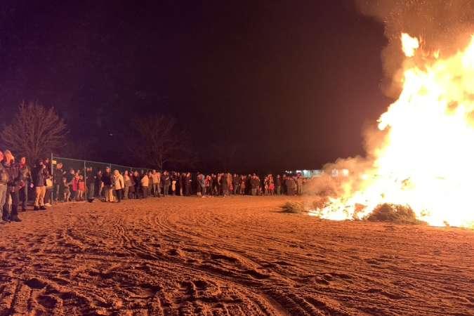 Twelfth Night Tree Bonfire w/ crowd