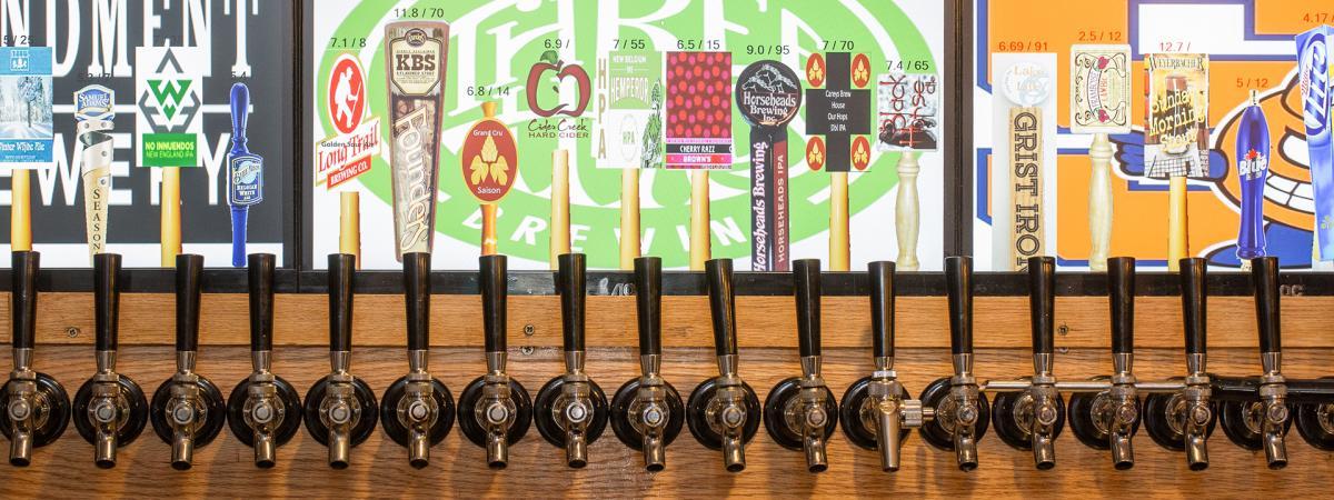 Carey's Brew House Taps