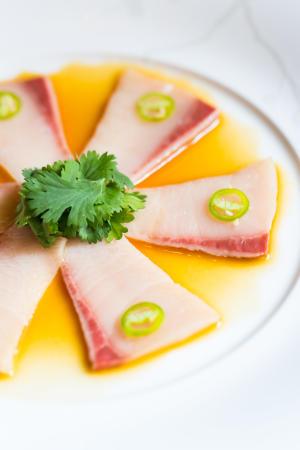 Yellowtail sashimi at Nobu