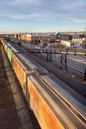 Train-Downtown-Main Street