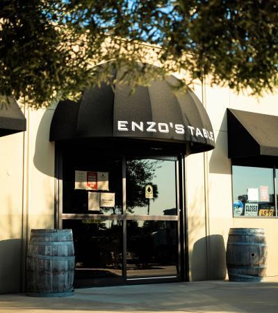 Enzo's table outside