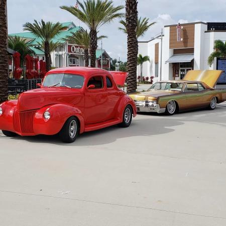 Cars at ONE DAYTONA car show in Daytona Beach