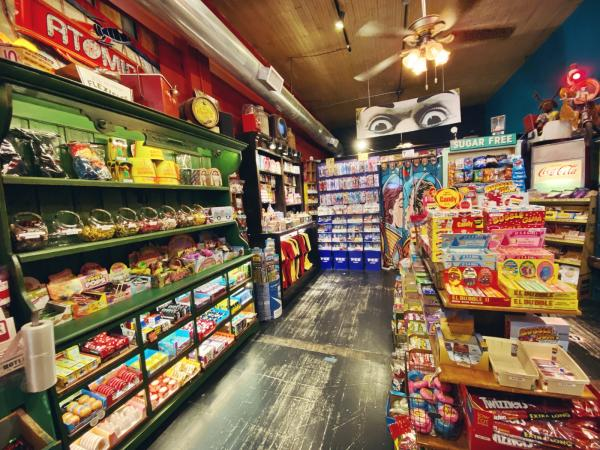 Interior view of Atomic Candy in Denton, TX