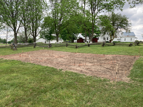 The Barns Quilt Gardens Planting 2021