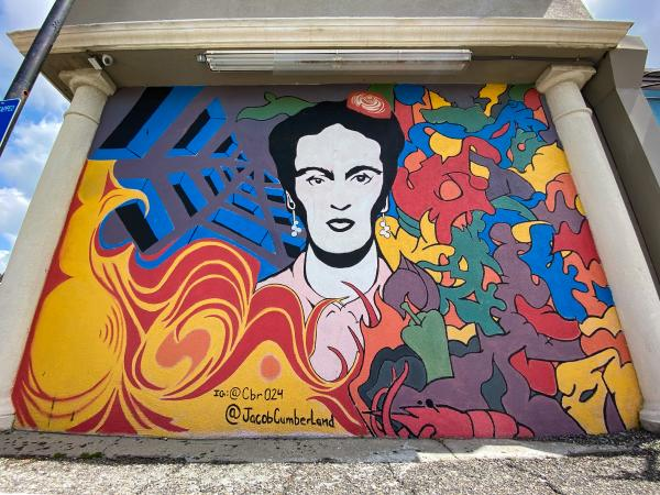 Frida Kahlo mural by Cody Bryan Richardson