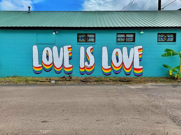 Love is Love Mural by MrCaliRob