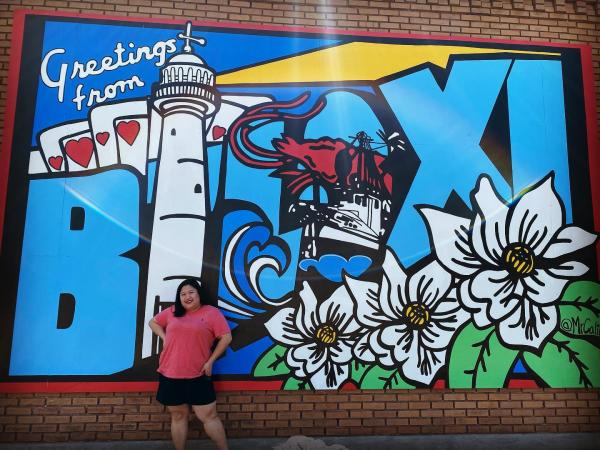 Greetings from Biloxi mural courtesy Instagram user @iammichellemarabe