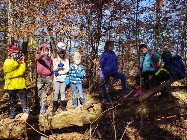 Kids Standing In The Woods At The Ijams Nature Center