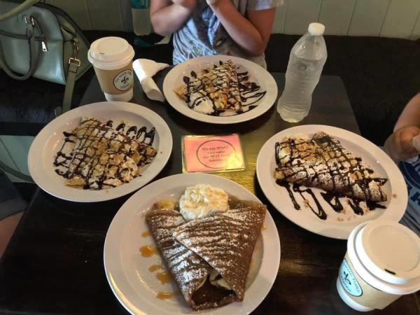 Gluten-free dessert crepes from The French Market