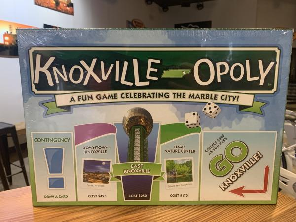 The Knoxville-Opoly board game is a fun Knoxville twist on the classic family game.