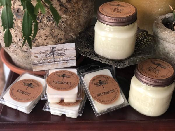 ocandles and wax melts from Southern Porch Scents based in Knoxville, TN