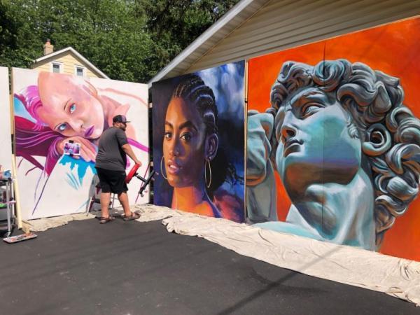 Chalkfest murals