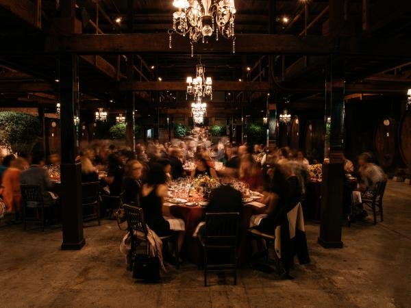 Evening Dinner Event at Napa Valley Winery