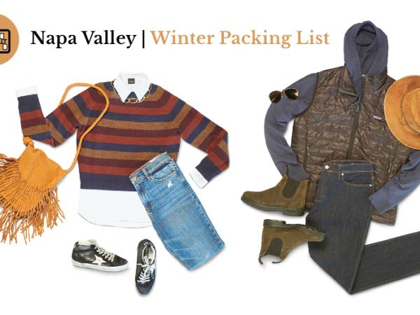 Napa Valley Winter Packing List