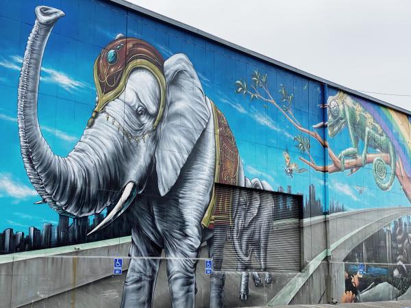 Oakland Museum Elephant Mural