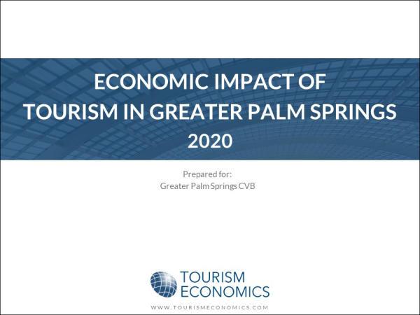 2020 Economic Impact Study Cover