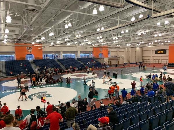 Wrestling meet at RIT Gordon Field House