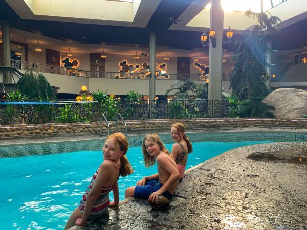 Saskatoon Inn WFH pool kids