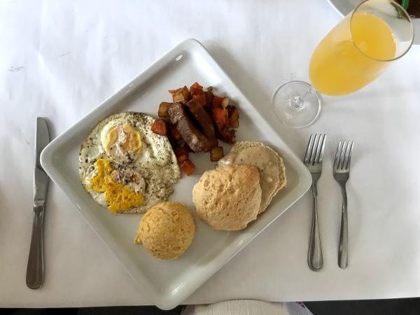 Breakfast plate at Forks & Corks