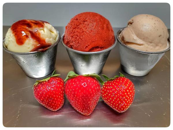 Hoodoo Ice Cream Ponchatoula straweberries