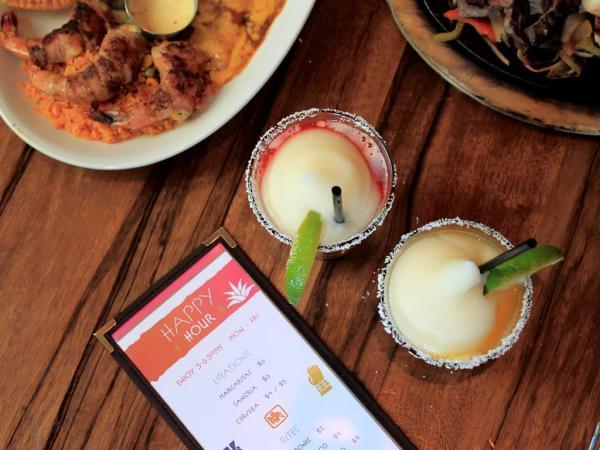 Margarita and Food at Escalante's