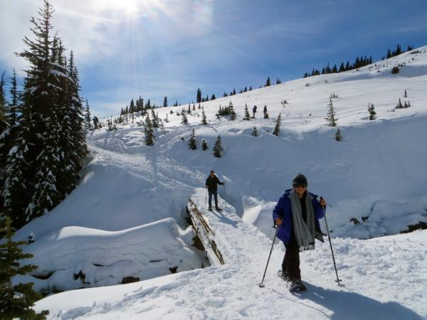 Discover Nature snowshoeing