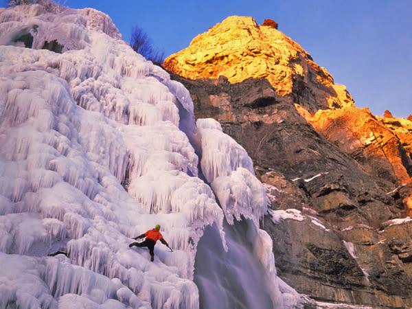 Bridal Veil Falls Ice Climber