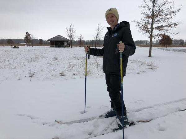 Cross County Skiing at Prophetstown State Park