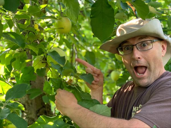 Farmer Hugh is excited for PYO Apples!