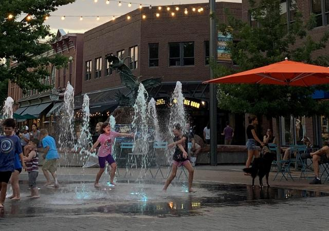Old Town Splash Pad Evening