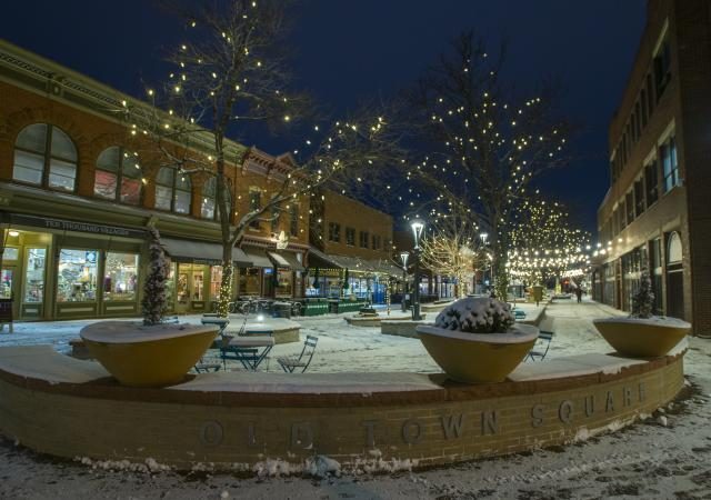 Old Town Square Snow