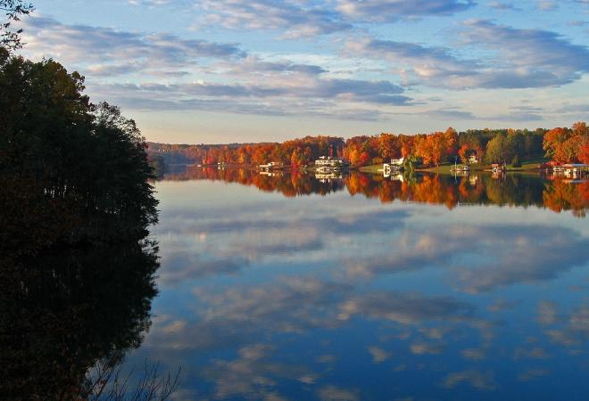 Smith Mountain Lake - Fall Color