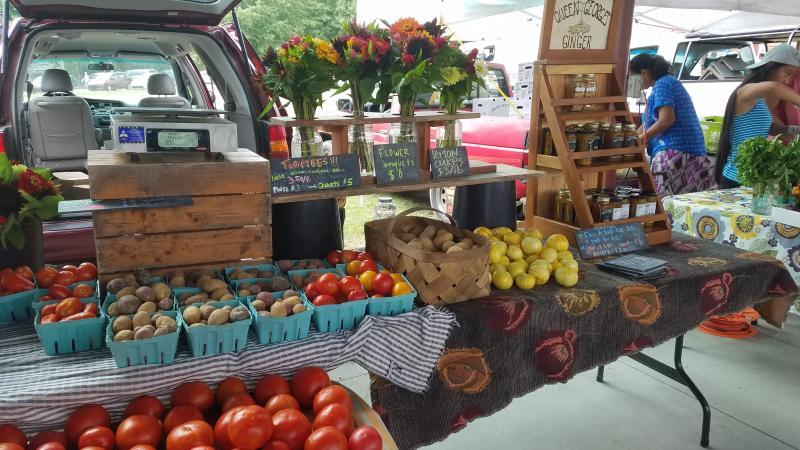 Vendor at Carrboro Farmers Market