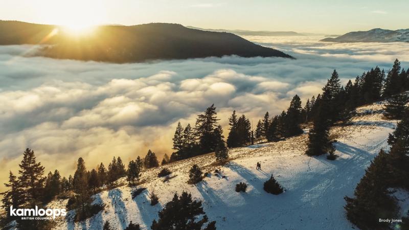 Snowshoeing at Harper Mountain