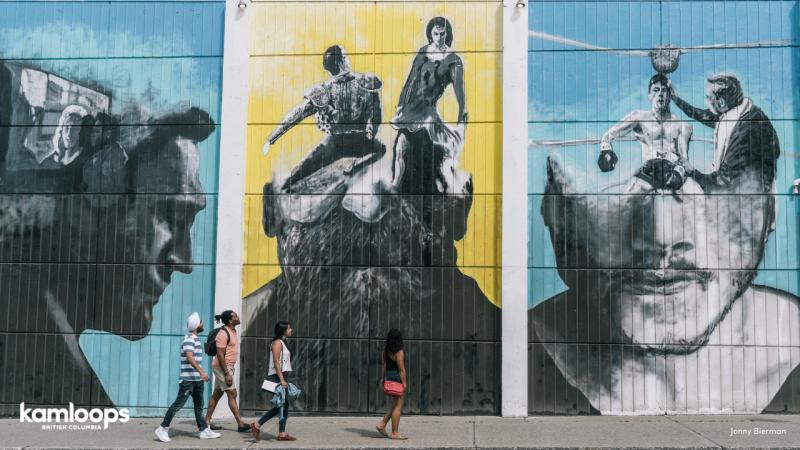Walking the Back Alley Art Murals in downtown Kamloops