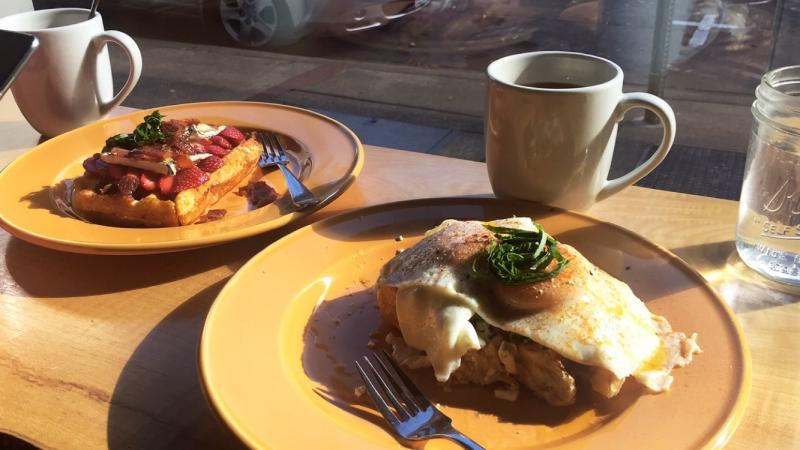 Off the Waffle Downtown Eugene by Melanie Griffin