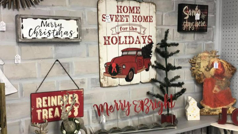 Wood & Cotton carries holiday decor items in addition to apparel and accessories.