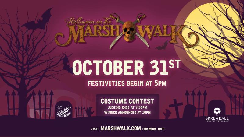 2021 Flyer for Halloween on the MarshWalk