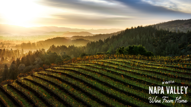 Napa Valley Zoom Background Winter Mountain Sunset